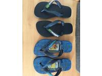 Boys havianas size 27/28 and Nike trainers size 11