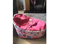 Girls pink baby bean bag