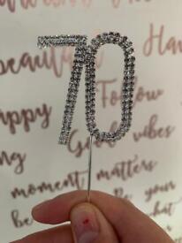 70th birthday decoartions