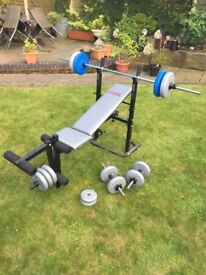 FOR SALE York Fitness weights bench with leg extension