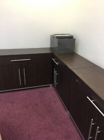 Conference Boardroom Table and matching Side boards, good condition