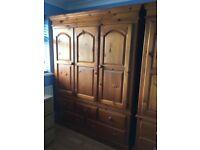 Three door with five draw wardrobe