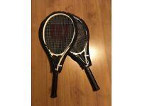 2 Wilson tennis rackets