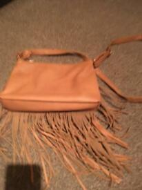 Brown tassel handbag