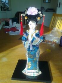 FIGURE OF CHINESE WOMAN - PURCHASED IN CHINA 20 YEARS AGO, PERFECT CONDITION - BEEN WRAPPED SINCE