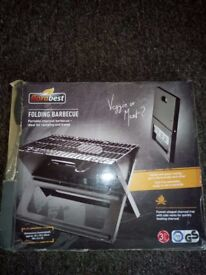FOLDING PORTABLE COMPACT GRILL BARBEQUE £10