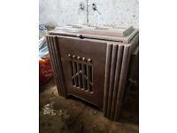 Cast iron art deco/30s wood burner (refurbished)