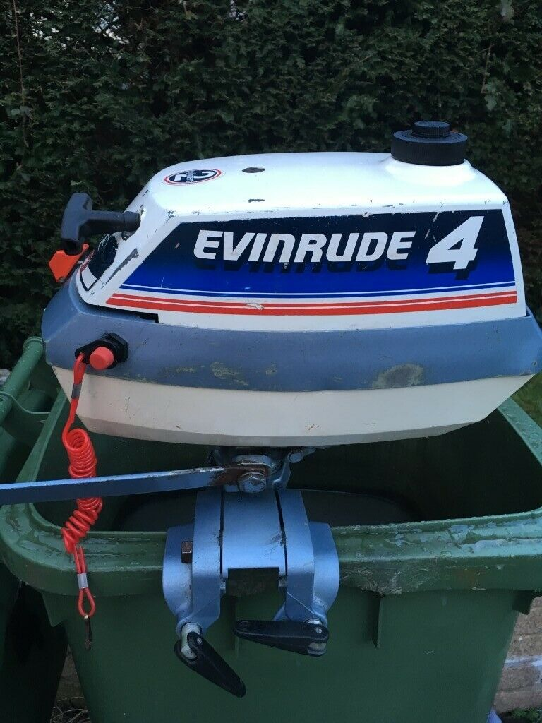 4hp Evinrude 2 stroke outboard engine | in Deganwy, Conwy | Gumtree
