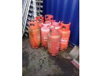 7 Empty Calor Gas Bottles