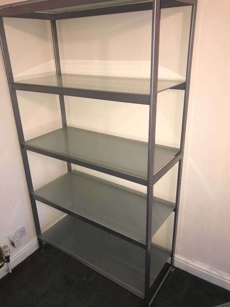 Large Living Room Glass/ Metal Shelves | in Coventry, West Midlands ...