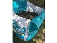 Rubber chippings (looks like top soil) ideal for play areas/gardening. Bulk bag