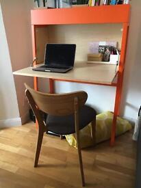 Fold-away laptop/work desk
