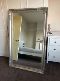 Large silver mirror for sale - collect only