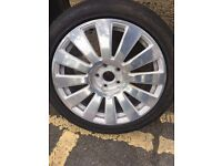 Audi A6 18 inch Diamond cut rim with tyre - Brand new condition