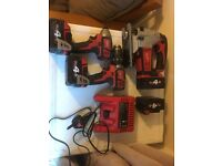 Milwaukee combi drill kit impact driverjigsaw 18v tools power tools for sale bargain