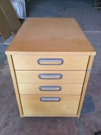 Foffice cabinet with wheels