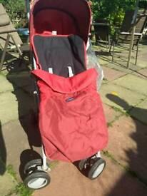 Red Chicco London pushchair buggy pram