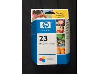 HP INKJET PRINT CARTRIDGE TRI-COLOUR No23 £3 each 17 in total