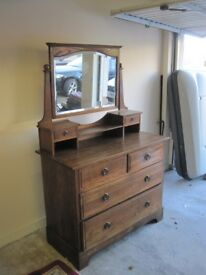 Beautiful Antique Dresser / Chest of Drawers