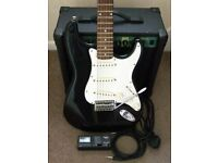 ELECTRIC GUITAR, COMBO AMP, LEAD, STRAP & TUNER