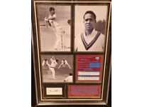 Personally signed by Sir Garfield Sobers - 3 pictures with career stats