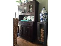 Crate & Barrel Solid Wood Sideboard and Hutch