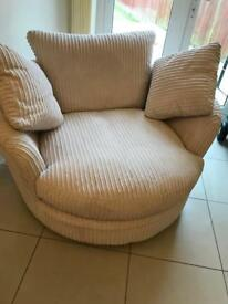 Large sofa swivel chair