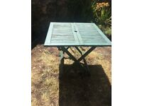 Folding Wooden Garden Table, working condition. Available for free if you can collect (Roath)