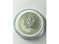2011 1oz FINE SILVER CANADIAN MAPLE LEAF COIN