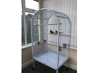 Large Floor Standing Parrot / Bird Cage & Second Cage Free