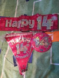 Birthday bunting banners and badges