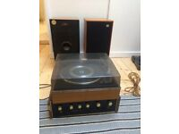 Vintage Garrard turn table and hi fi system