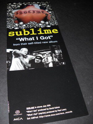 SUBLIME What I Got from their self titled new album 1996 music biz promo advert