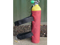 3 litre steel pony cylinder c/w net bag and attachment straps