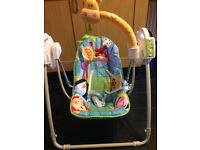 Used fisher price baby swinging