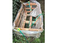 Wooden crate :- plus other items for garden furniture, shed, cage, planter. Fit in car. Heavy.