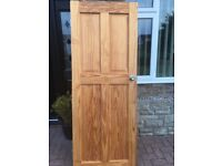 Knotty Pine internal doors including handles
