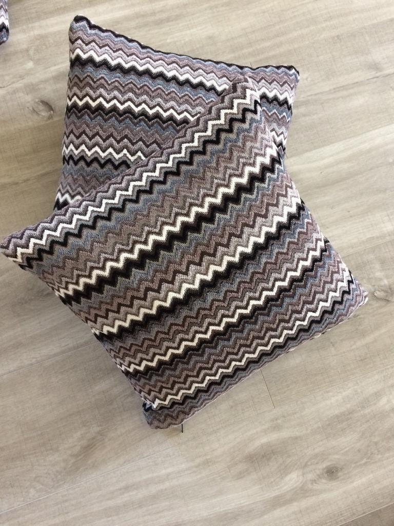 4 X Sofology Pewtermidnight Mix Sofa Cushions Brand New Unused