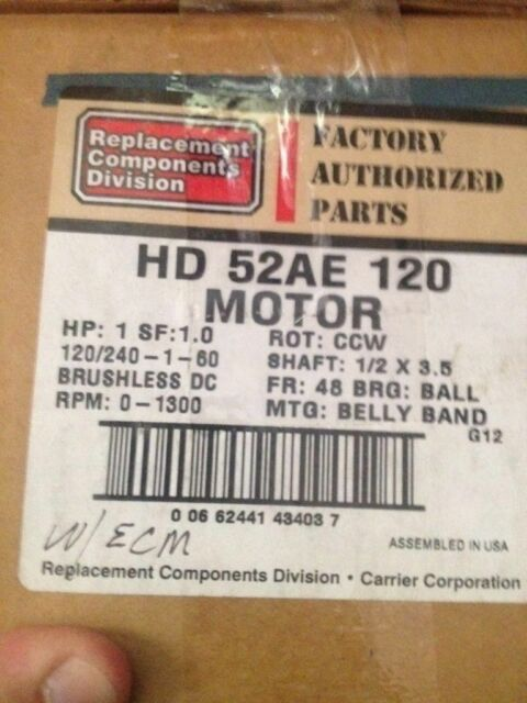 carrier ecm motor replacement. hd52ae120 carrier bryant ecm motor ge 5sme39hl0310 - new! ecm replacement