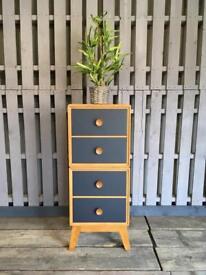 Meredew vintage retro 1960s tall narrow drawers