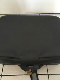 Black old leather suitcase!!!