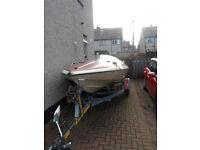 Classic 1970's Speedboat, outboard and trailer