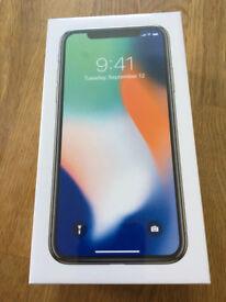 BRAND NEW APPLE IPHONE X (10) SILVER FACTORY UNLOCKED 64GB