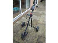 Used Longbridge 3 Wheel Push Golf Trolley