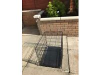Double door dog cage small