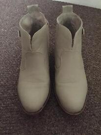 Ladies cream boots