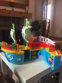 Little tikes pirate boat with figures