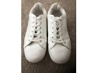 Ladies White Style Trainers Size 5 Eu 38 Worn Once