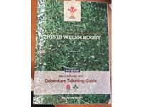 Wales Rugby Debentures Pair and Row of 4 Available