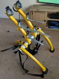 Saris Yellow 3 Bike Rear Cycle Carrier rack